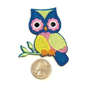 Owl patch iron on bird animal cute DIY